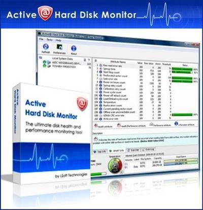 بررسی سلامتی هارد دیسک Active@ Hard Disk Monitor Pro 3.1.9