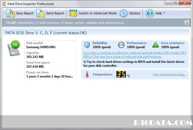 دانلود Hard Drive Inspector 4.17 Build 174 & For Notebooks نرم افزار آنالیز و نظارت بر سلامتی هارد دیسک