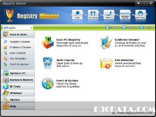 مدیریت و پاکسازی رجیستری با Registry Winner  6.6.8.30